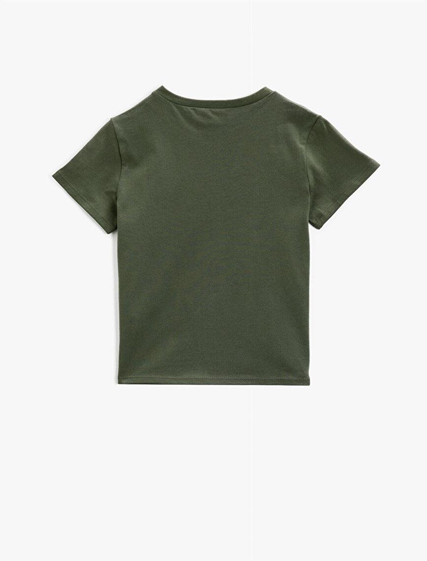 Baskılı Tişört Pamuklu Kısa Kollu