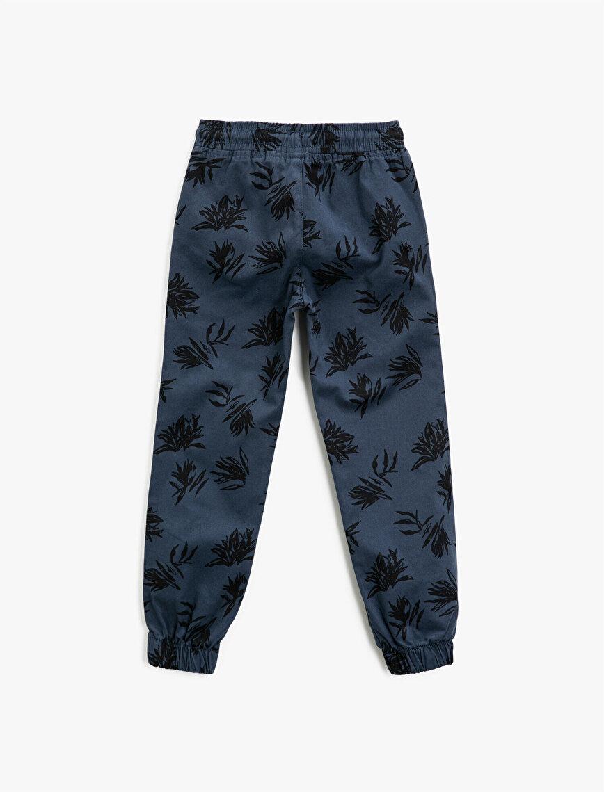 Cotton Printed Pocket Detailed Drawstring Trousers