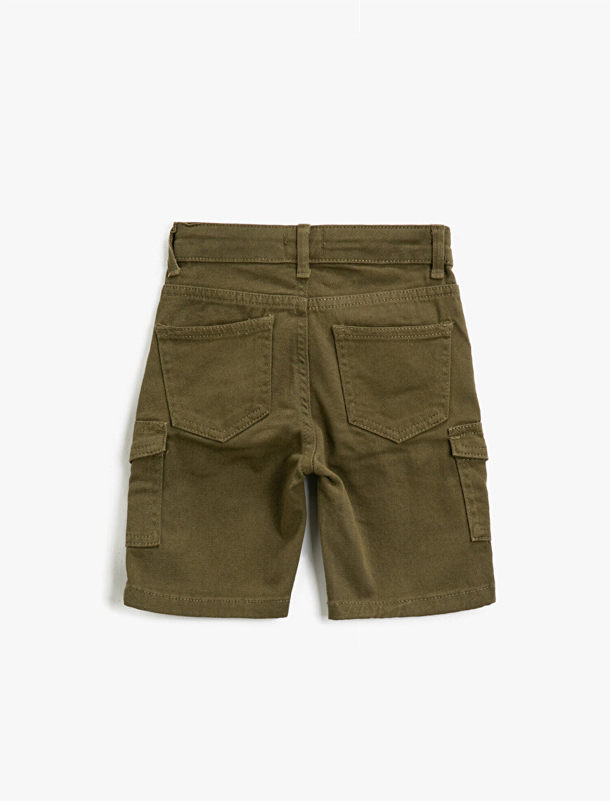 Pocket Detailed Cotton Shorts
