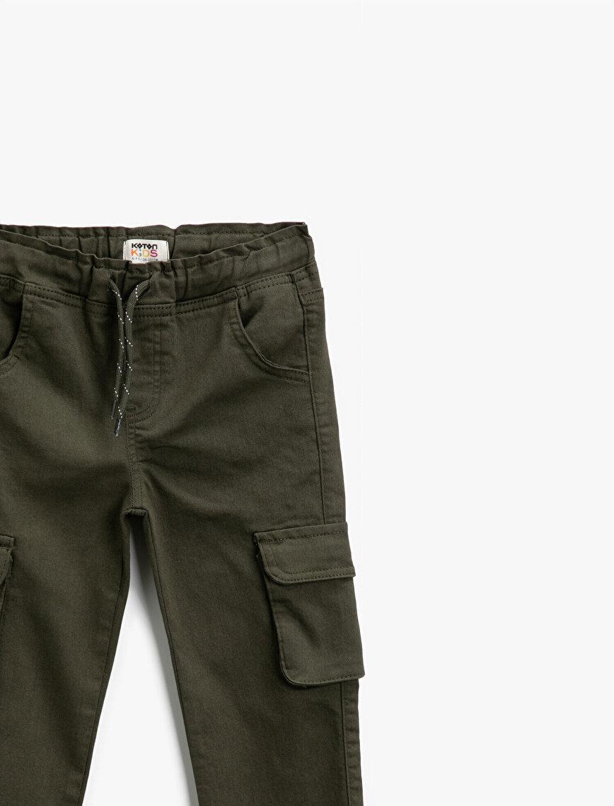 Drawstring Cargo Trousers