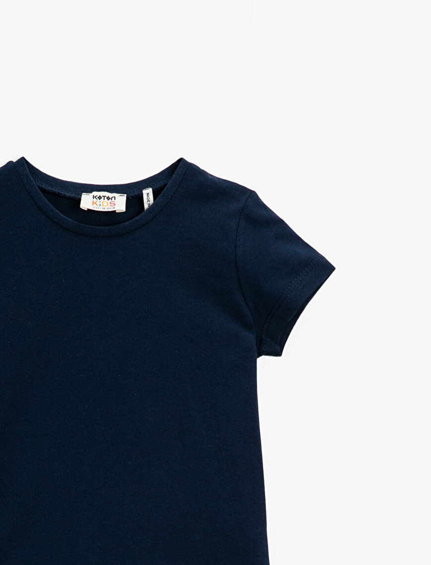 Basic T-Shirt Short Sleeve Cotton Crew Neck