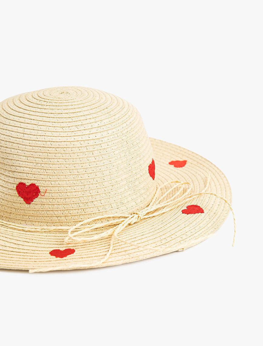Kalpli Hasır Şapka