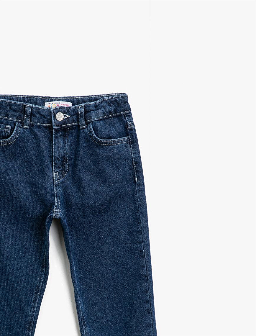 Cotton Pocket Detailed Jeans