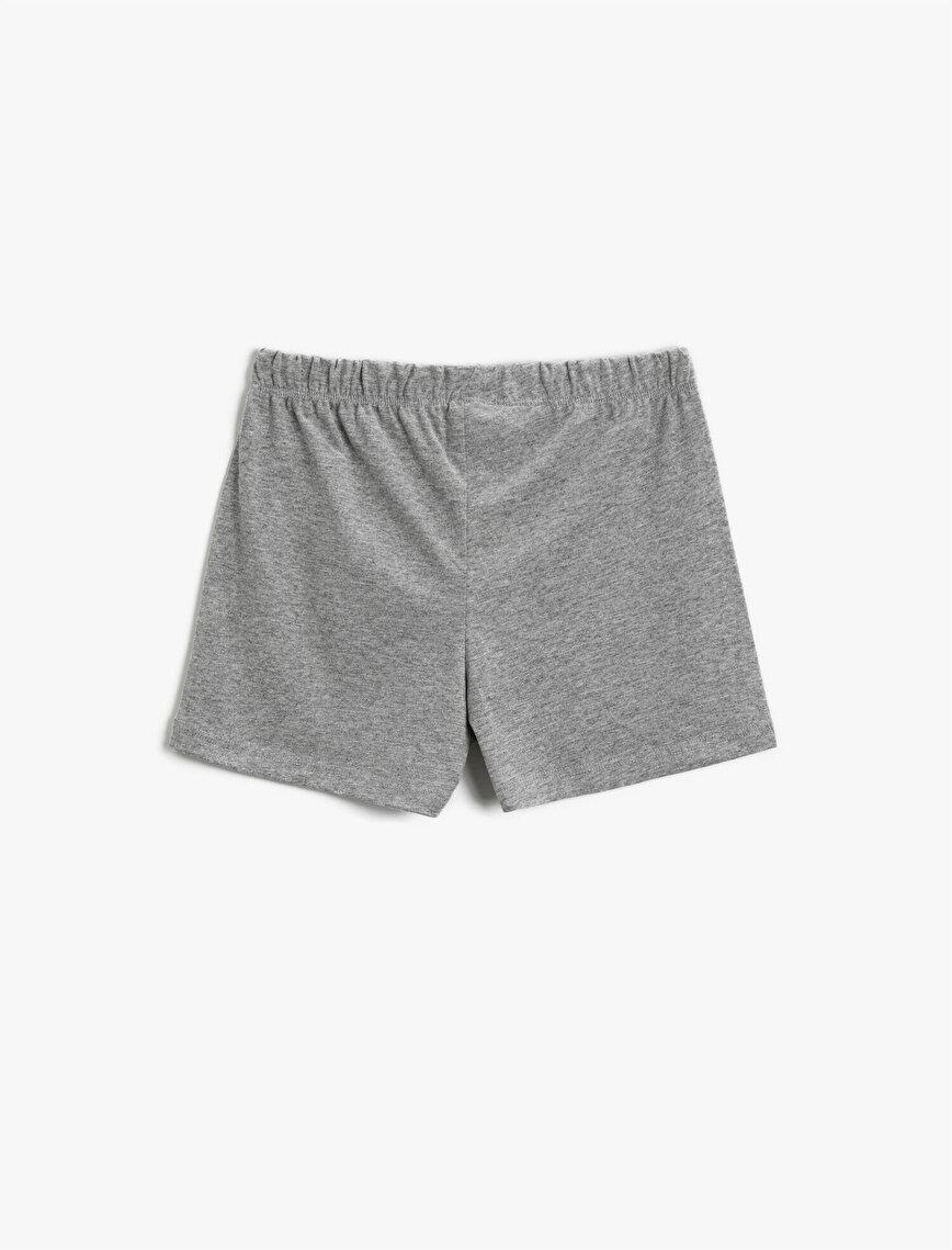 Drawstring Shorts Printed Cotton