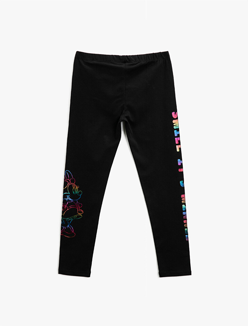 Minnie Mouse Licensed Printed Cotton Leggings