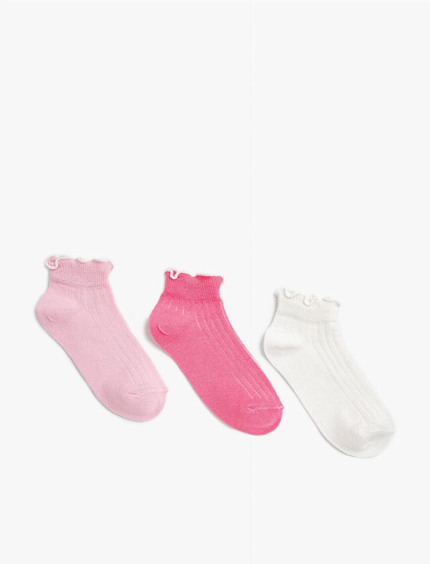 Kız Çocuk Basic Çorap Seti Pamuklu