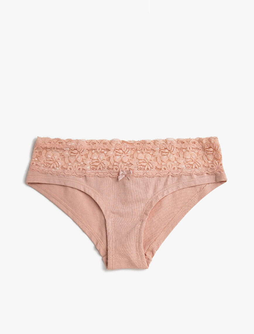 Lace Detailed Hipster 2 Pieces Panty Pack