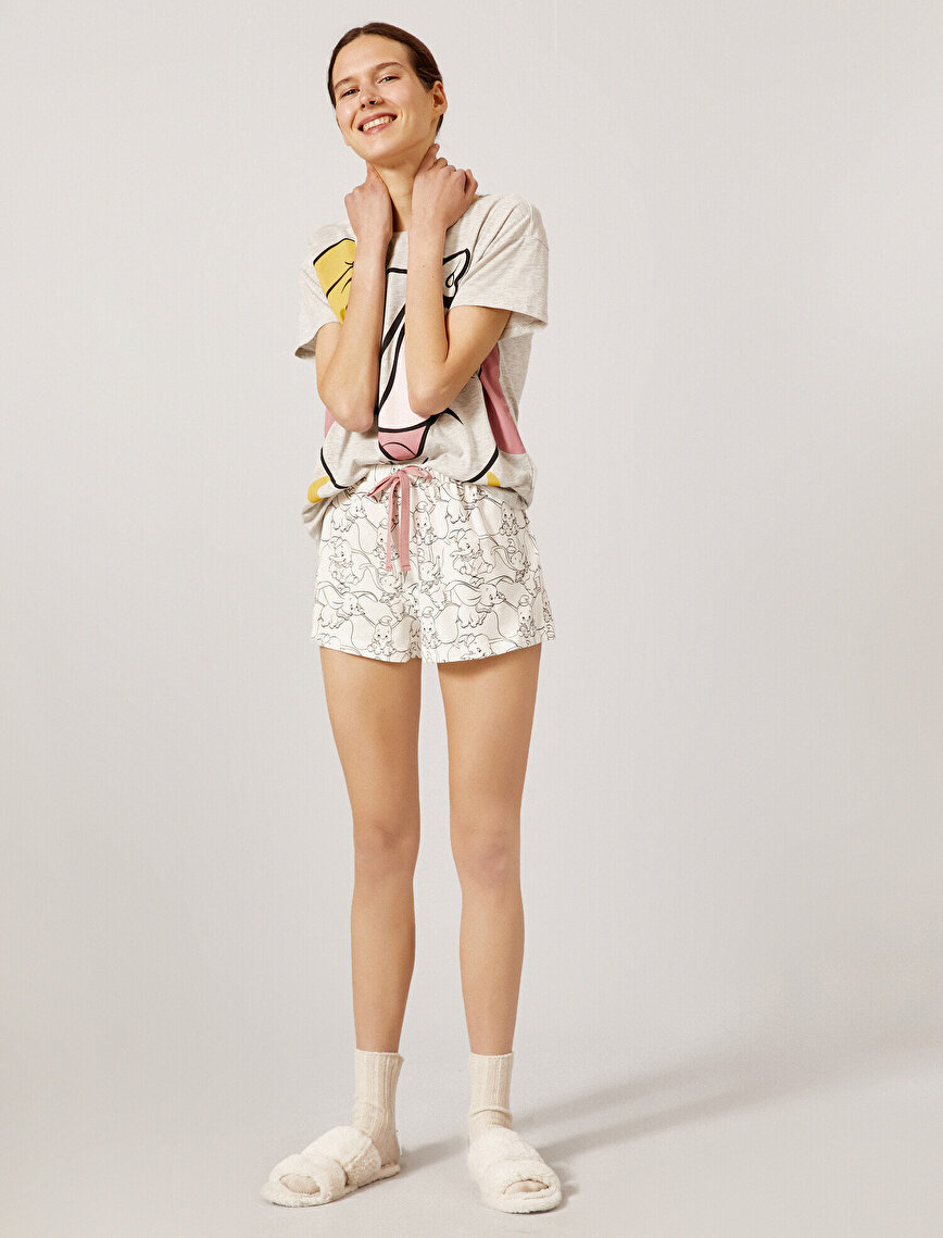 Dumbo Pijama Seti Lisanslı Pamuklu Kısa Kollu