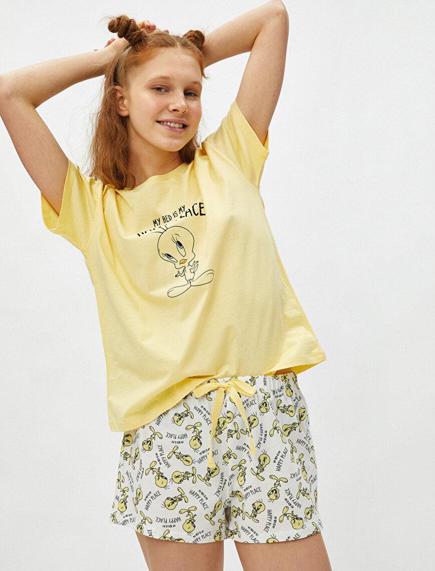 100% Cotton Warner Bros Licensed Tweety Themed Pyjamas Set