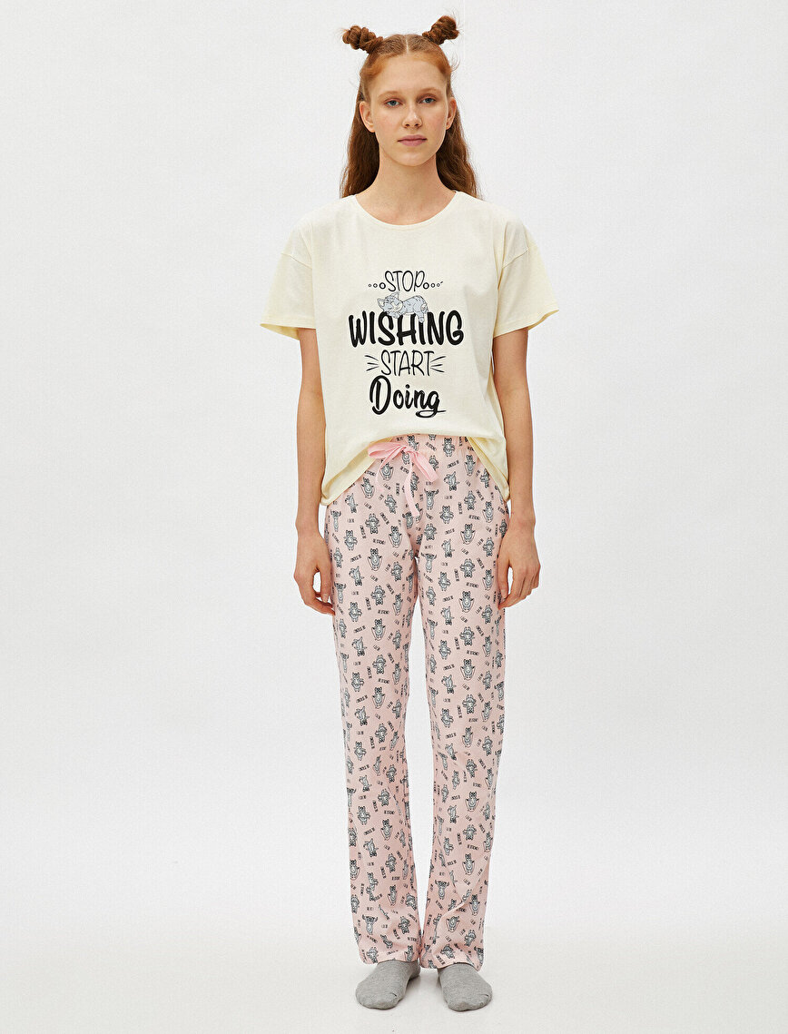 100% Cotton Printed Pyjamas Set