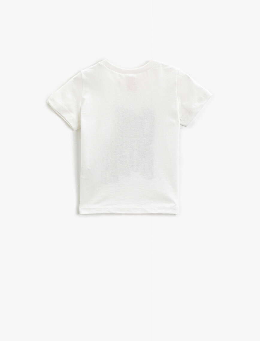 Slogan T-Shirt Short Sleeve Cotton