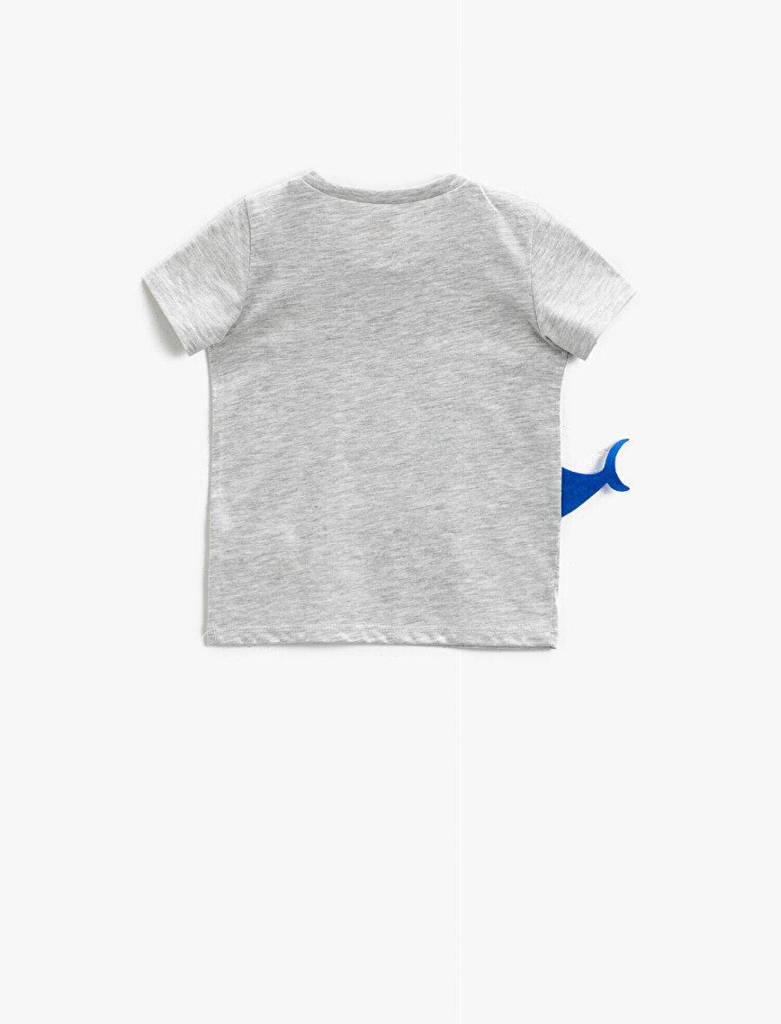 Baskılı Tişört Kısa Kollu Pamuklu