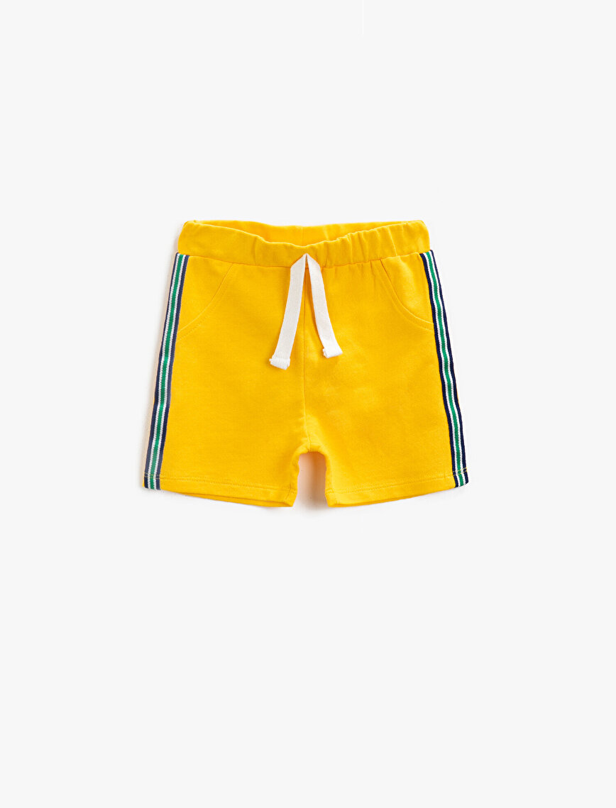 Striped Shorts Cotton Drawstring