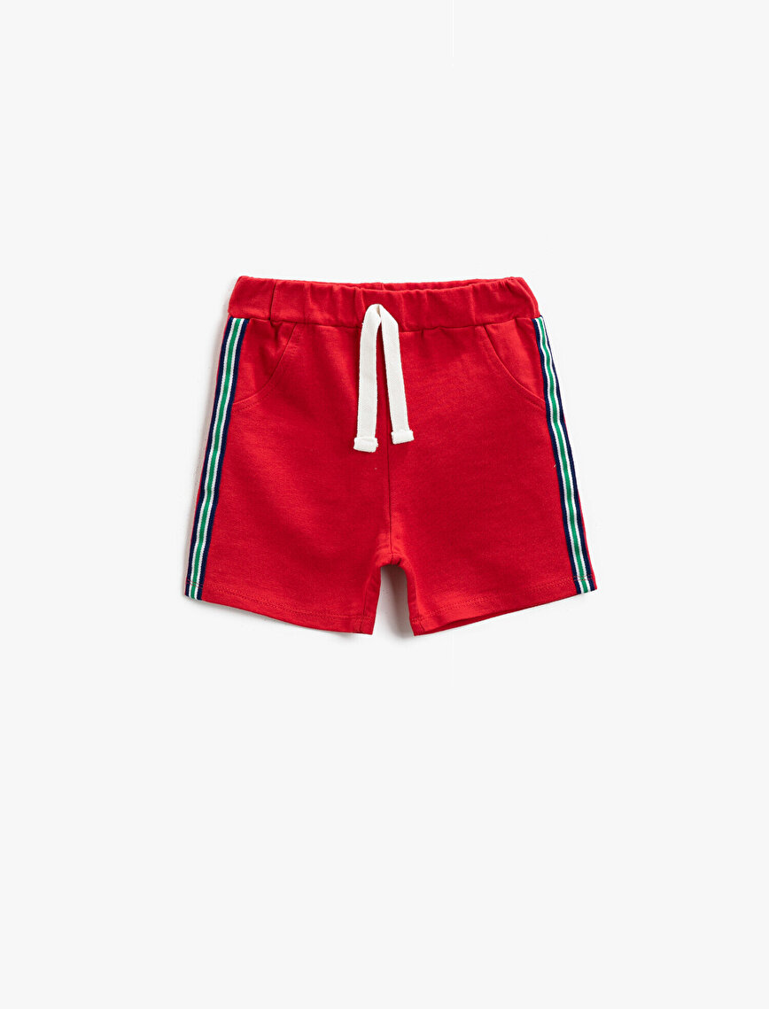 Striped Shorts Cotton Drawstring
