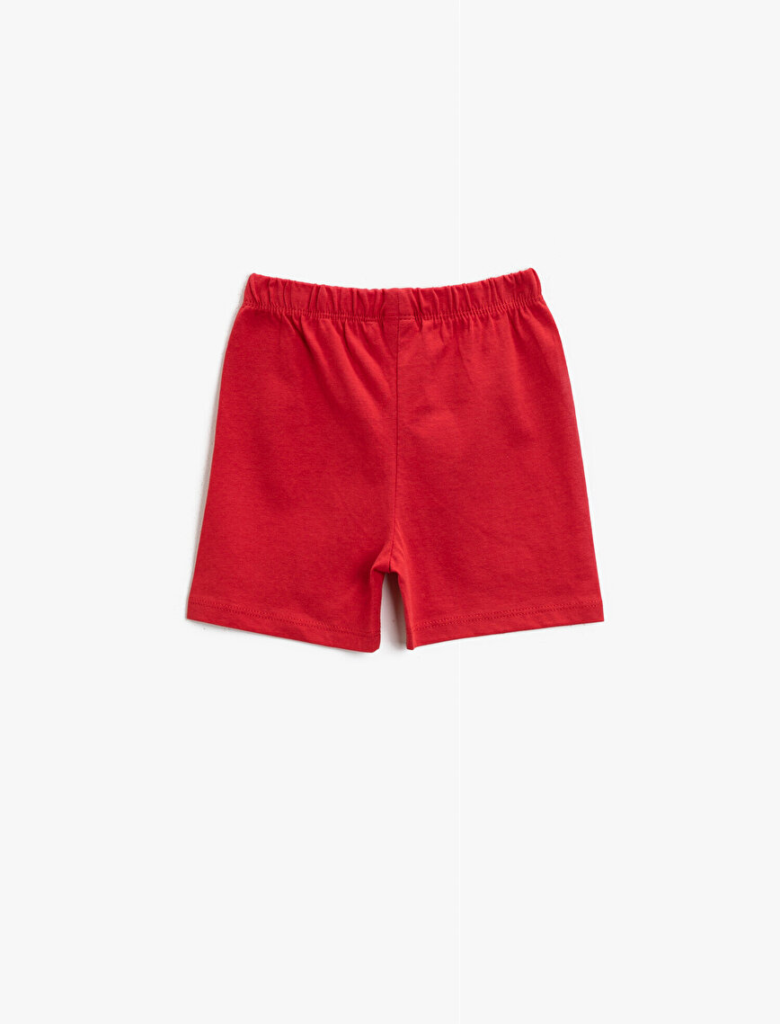 Letter Printed Shorts Cotton