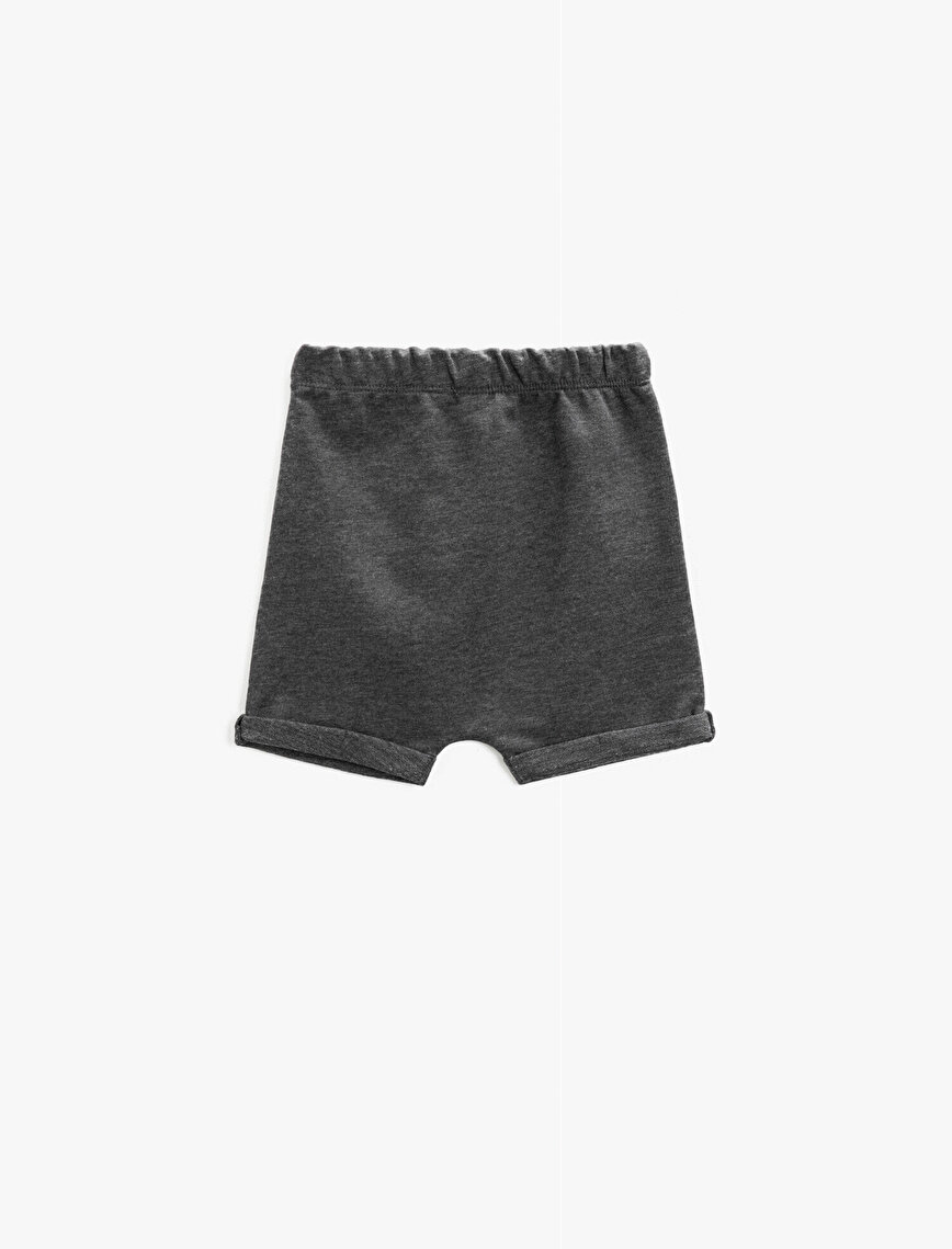 Shorts Cotton Emblem Detailed