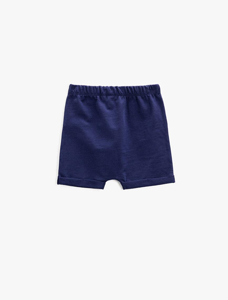 Shorts Cotton Emblem Detailed