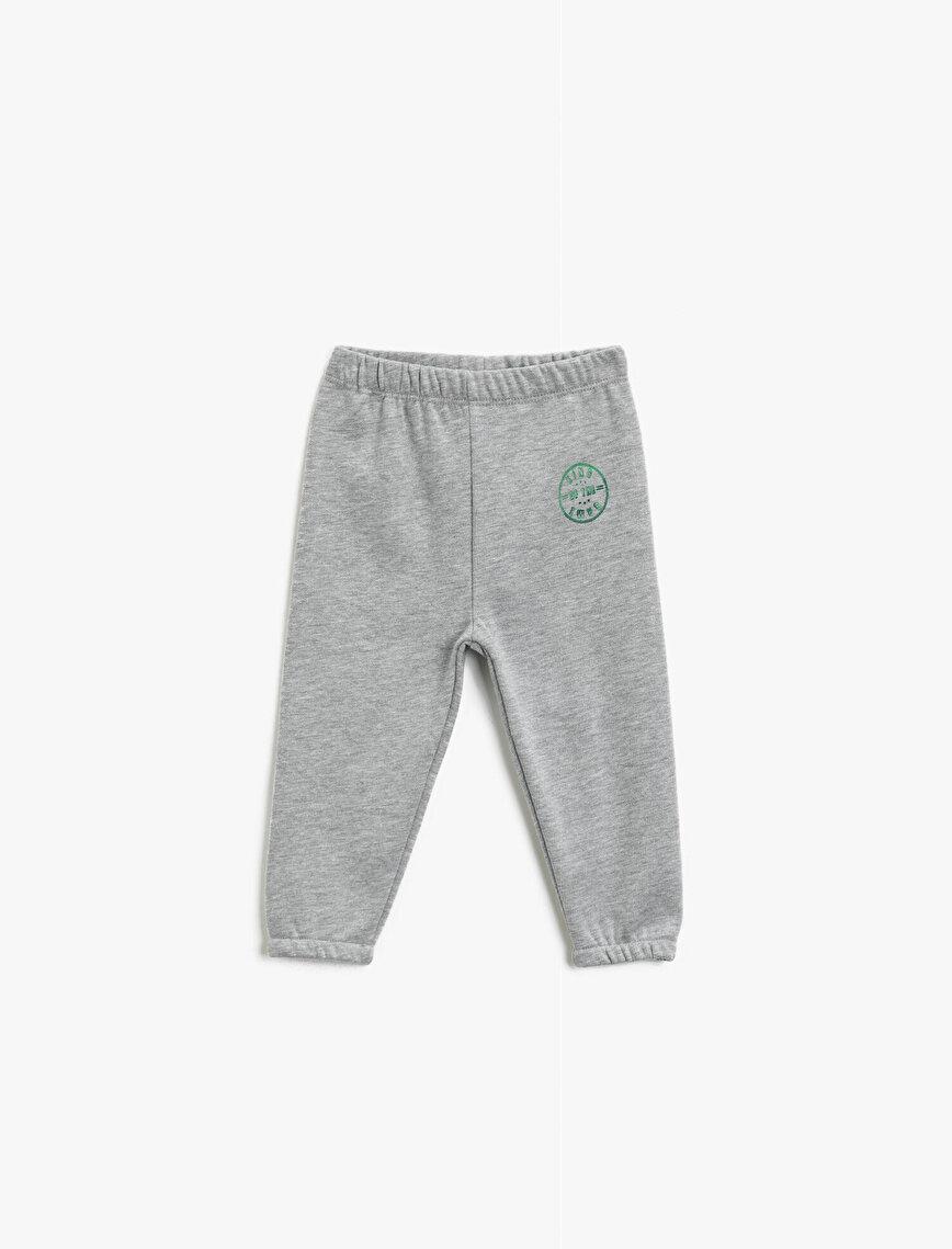 Printed Medium Rise Jogging Pants