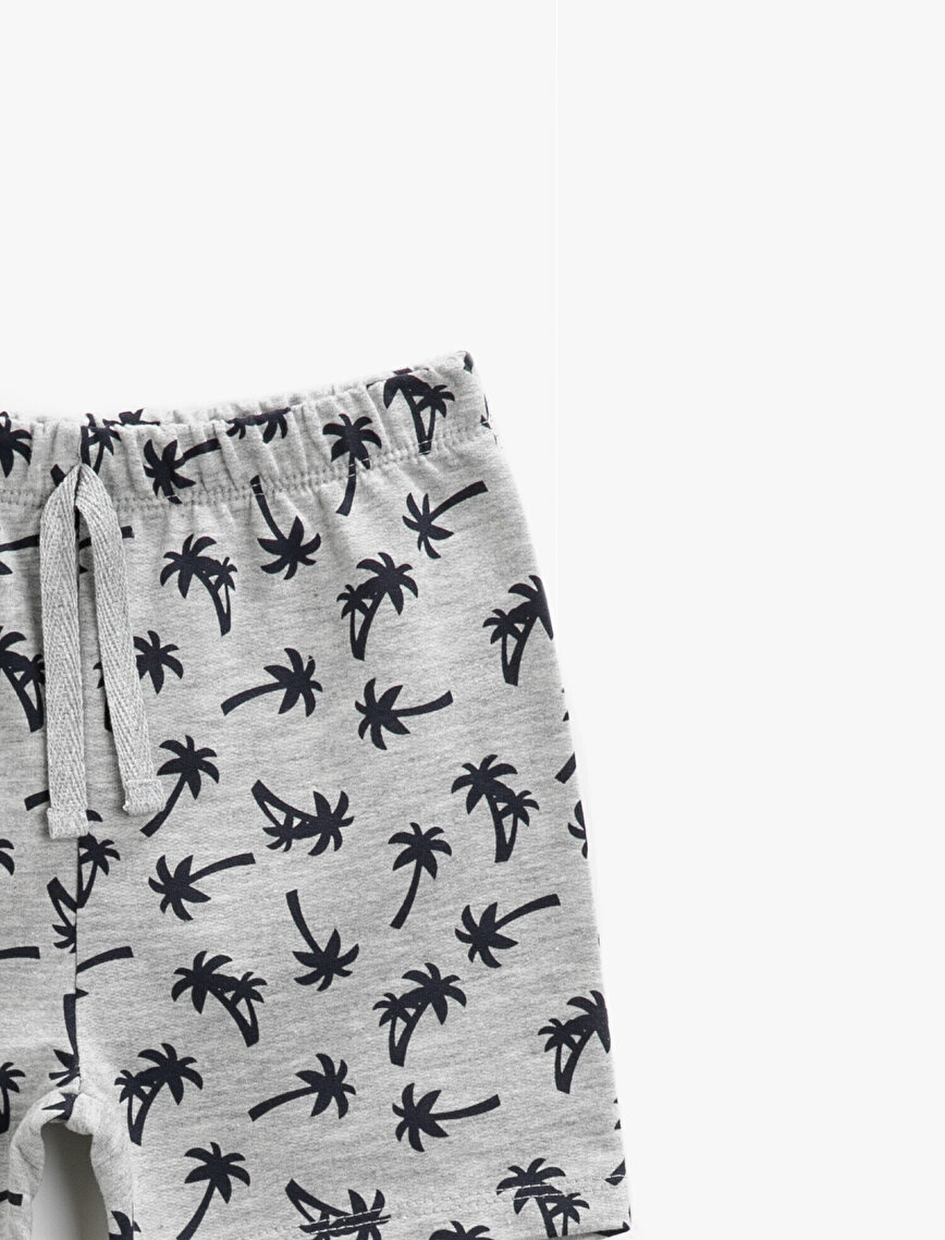 Printed Shorts Drawstring Cotton