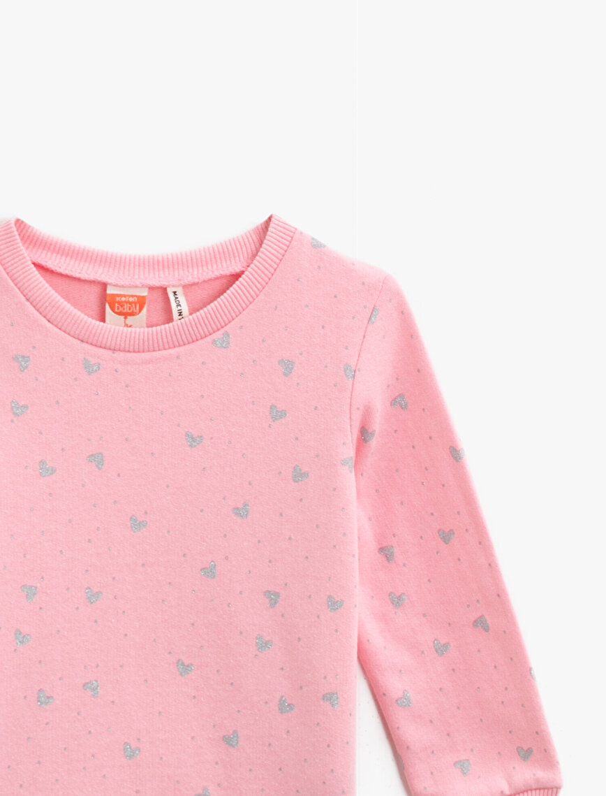 Cotton Printed Crew Neck Long Sleeve Sweatshirt