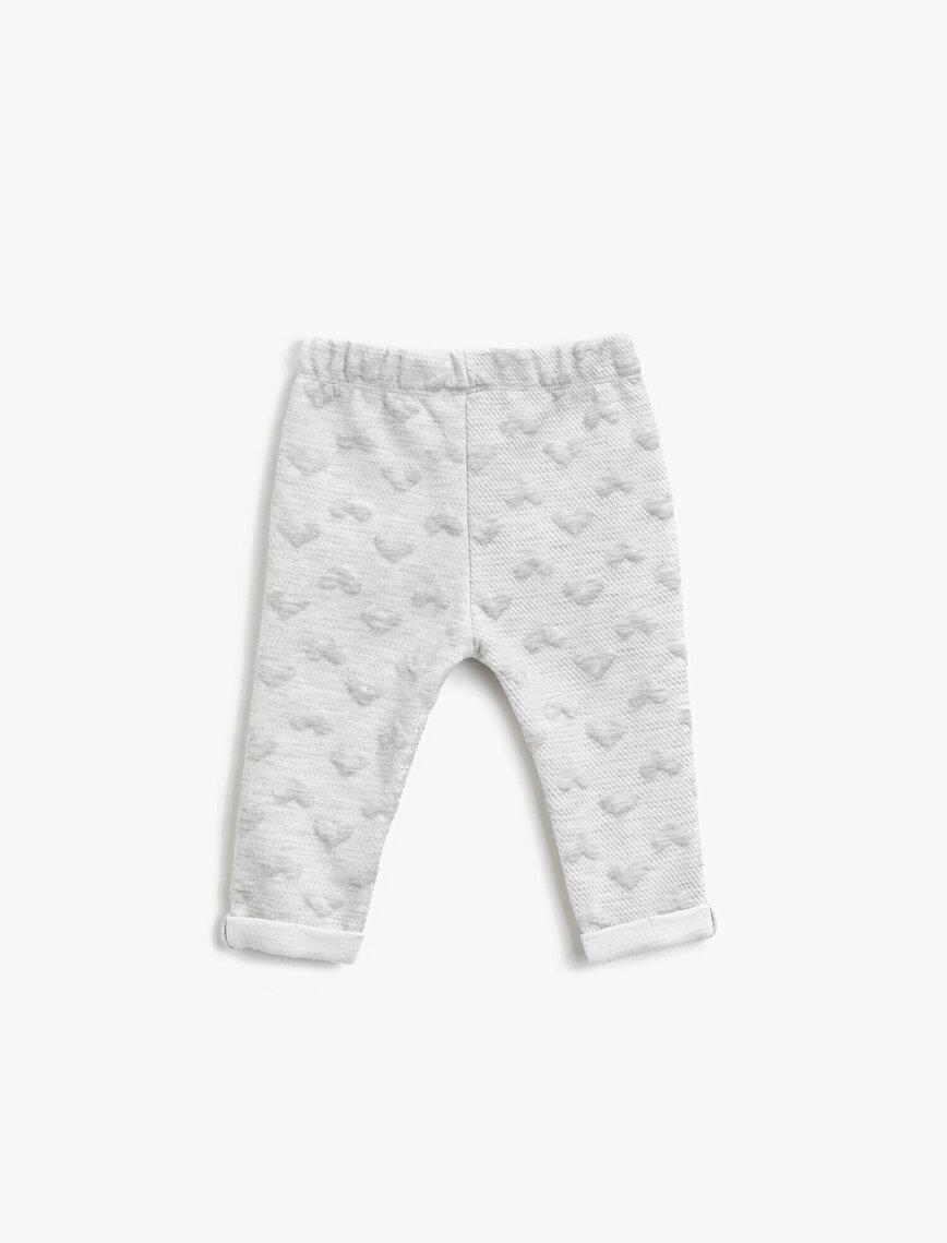 Cotton Patterned Medium Rise Jogging Pants