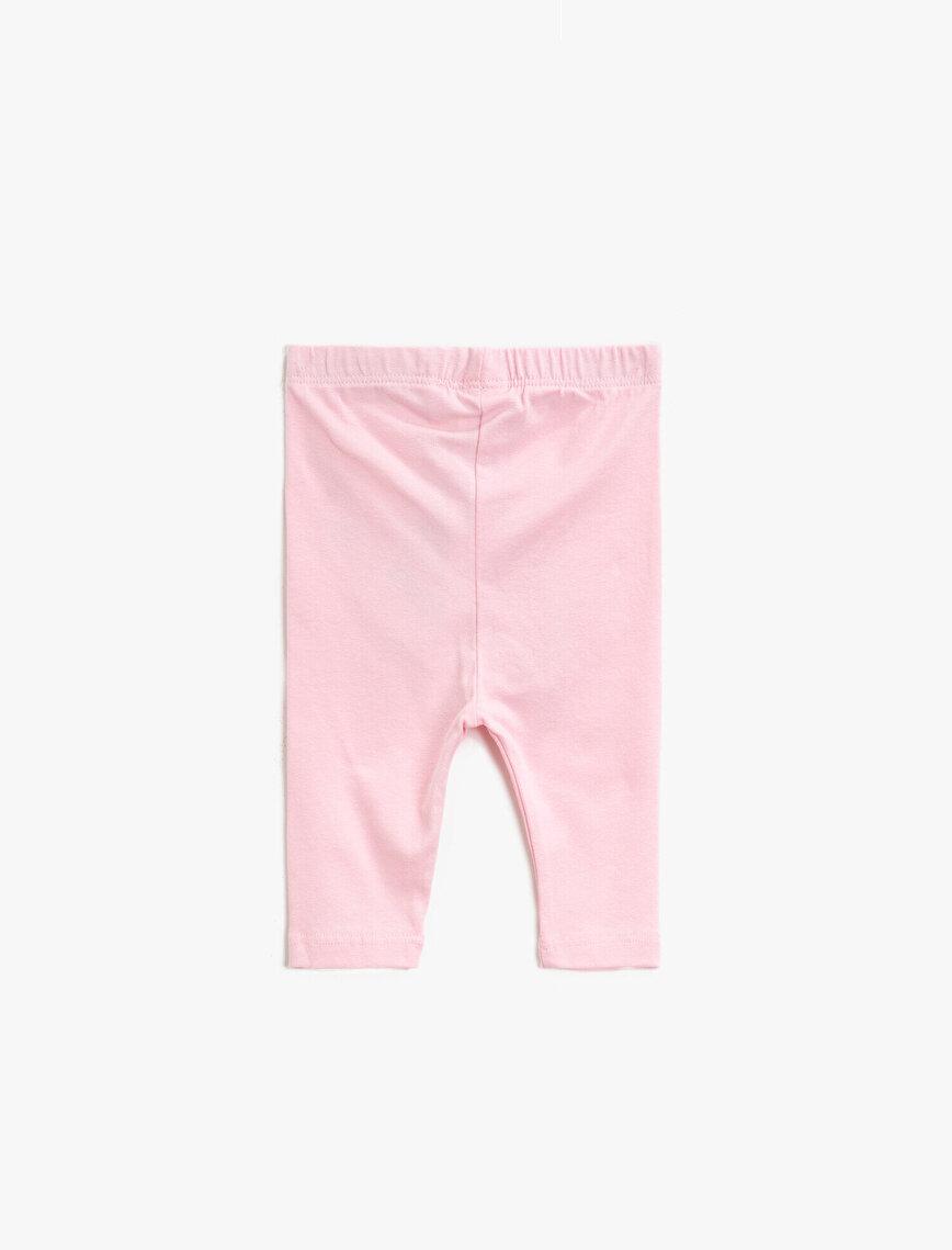 Cotton Silvery Printed Medium Rise Jogging Pants