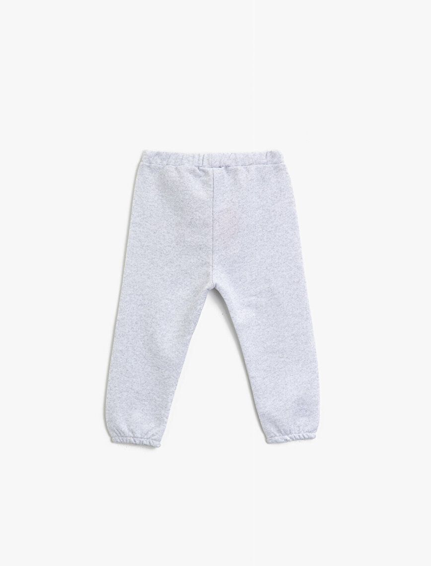 Silvery Printed Cotton Jogging Pants