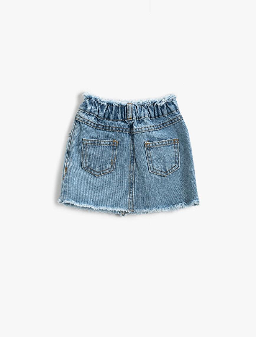 Basic Jean Skirt Cotton