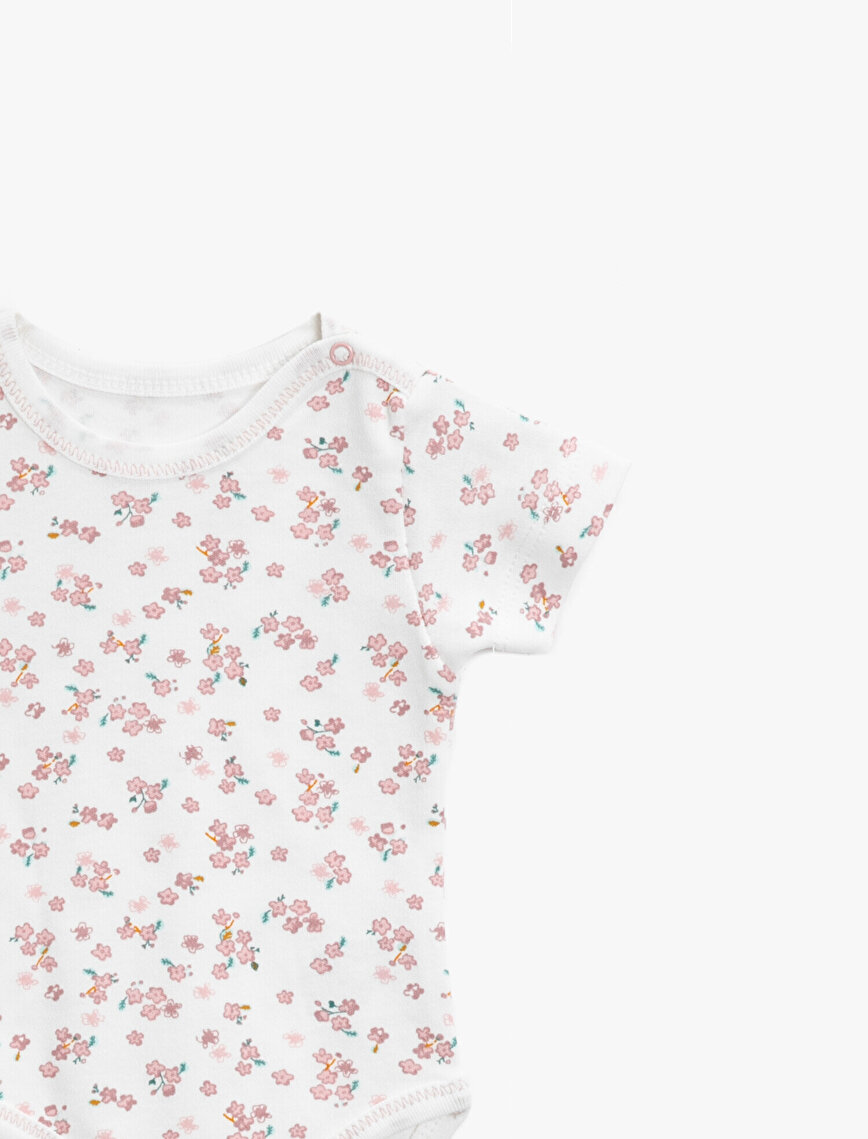 Bebetto 2 Pack Bodysuits Floral Printed Cotton