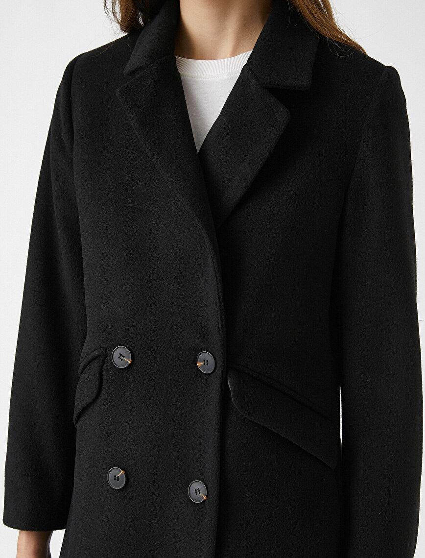 Button Detail Coat