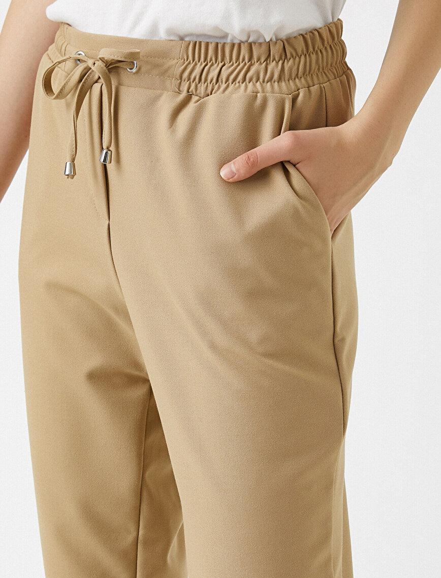 Beli Bağlamalı Pantolon Rahat Kesim