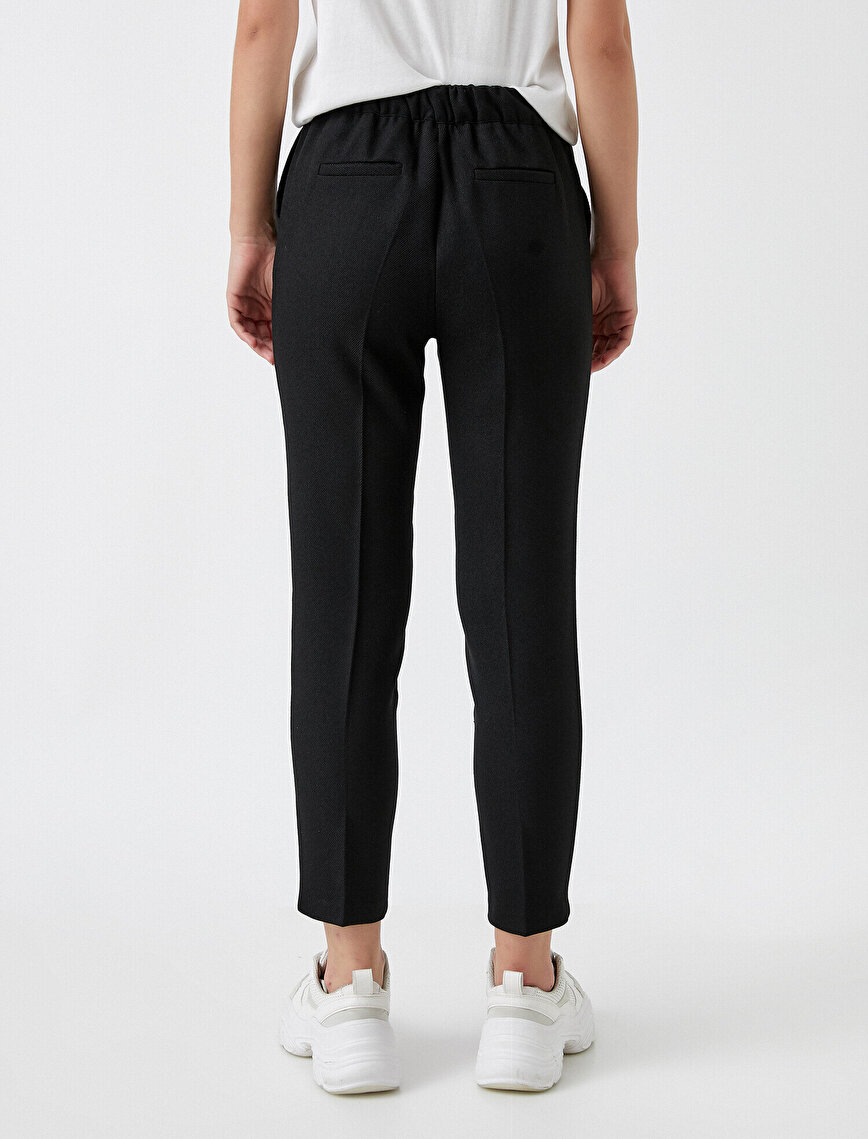 Pile Detaylı Pantolon