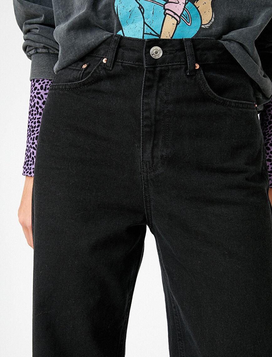 Bol Paça Yüksek Bel Kot Pantolon - Bianca Jean