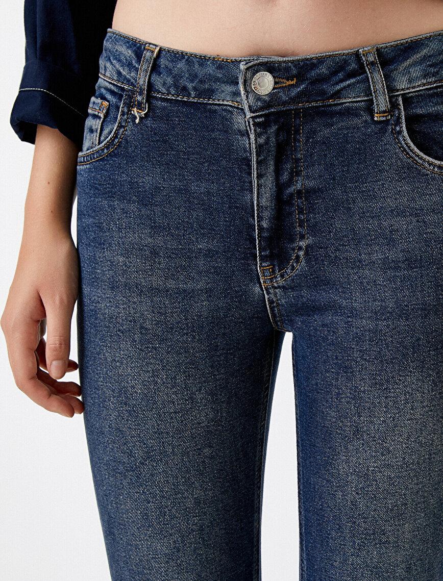 Normal Bel Crop Kot Pantolon - Victoria Crop Jean