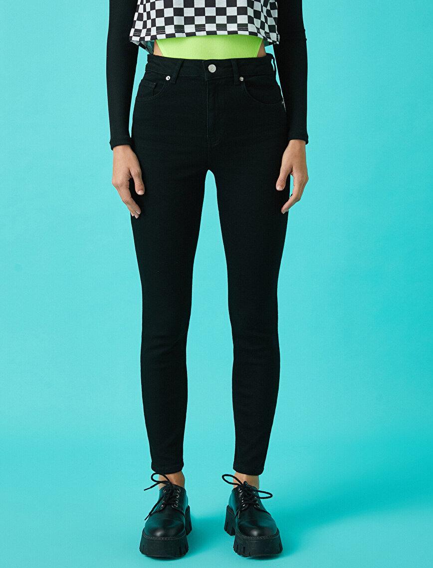 Yüksek Bel Normal Paça Kot Pantolon - Carmen Jean