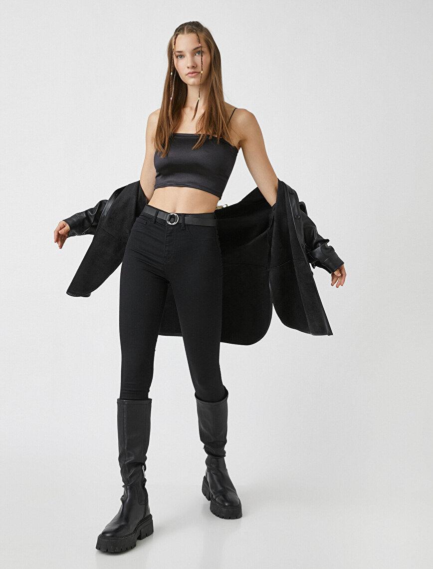 Yüksek Bel Dar Kesim Skinny Kot Pantolon - Carmen Jean