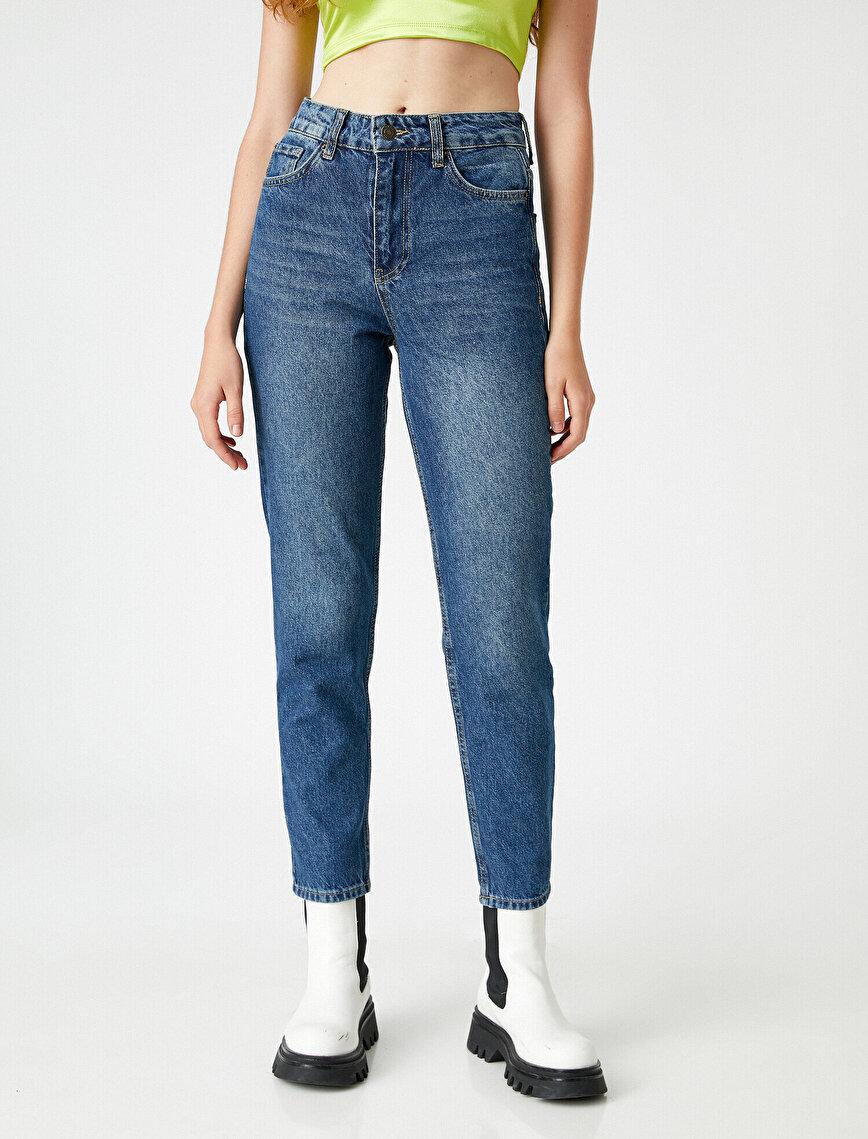 Yüksek Bel Kot Pantolon - Mom Jean