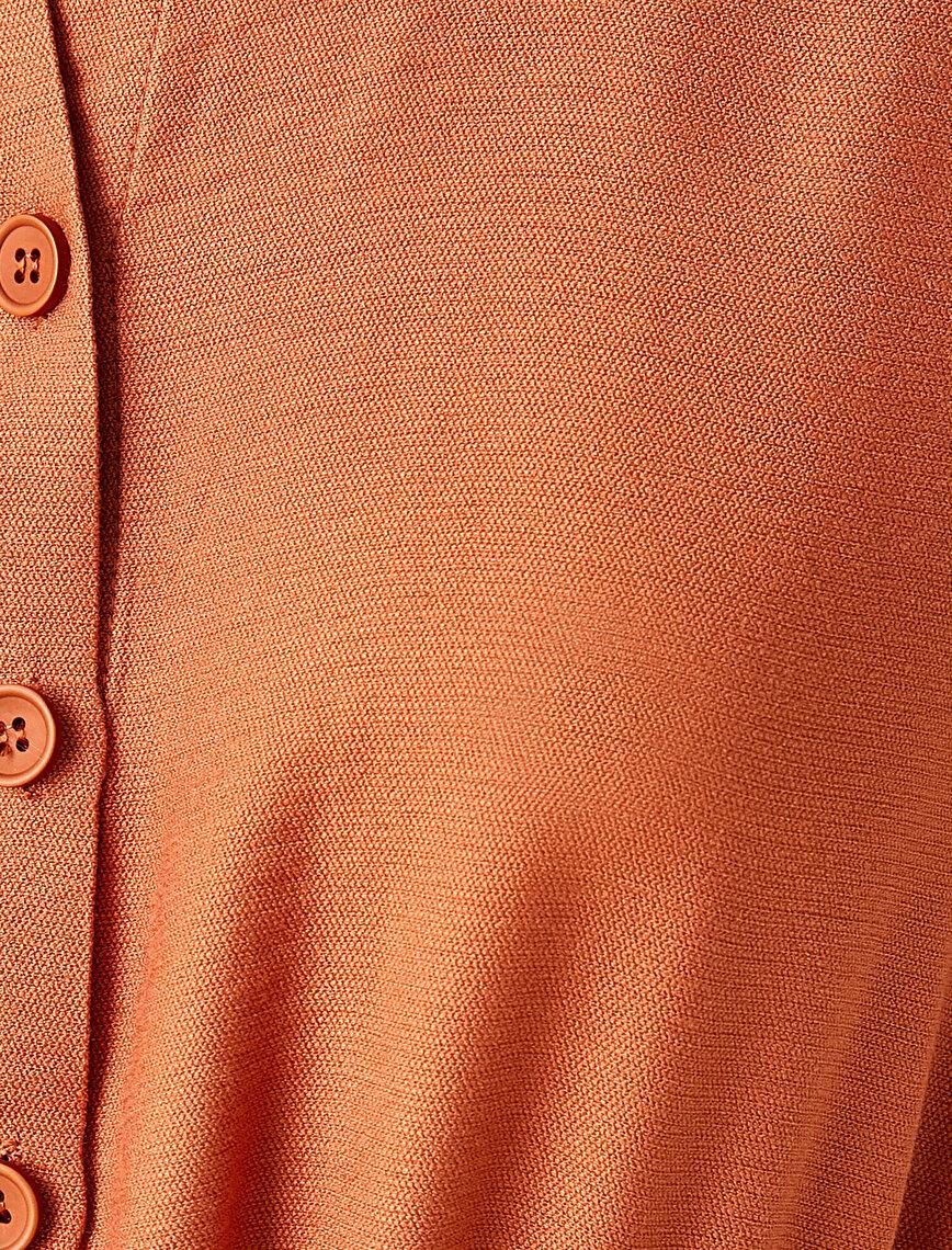 Gömlek Yaka Tulum Beli Kuşaklı Kısa Kollu