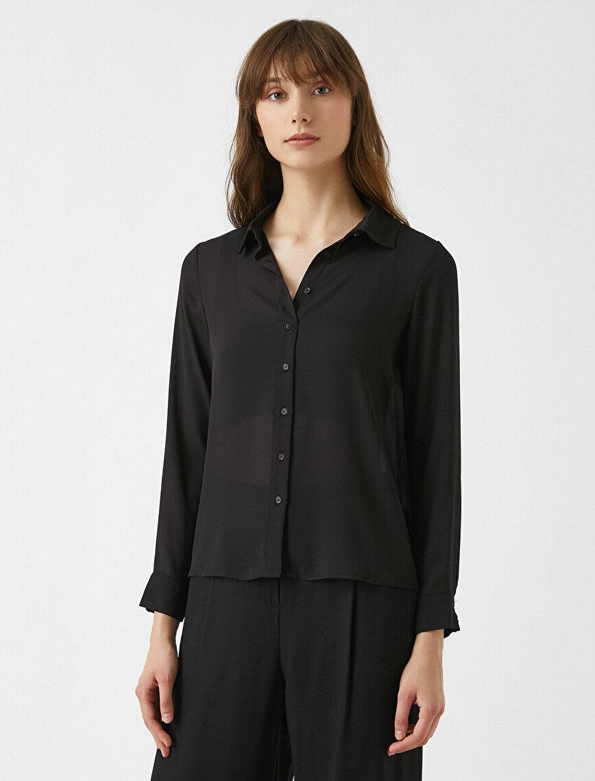 Klasik Yaka Gömlek Uzun Kollu