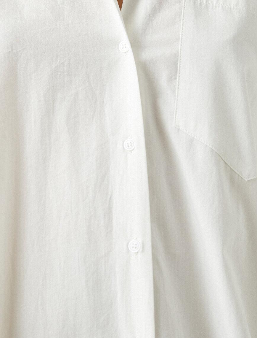Oversize Dügmeli Uzun Kollu Gömlek
