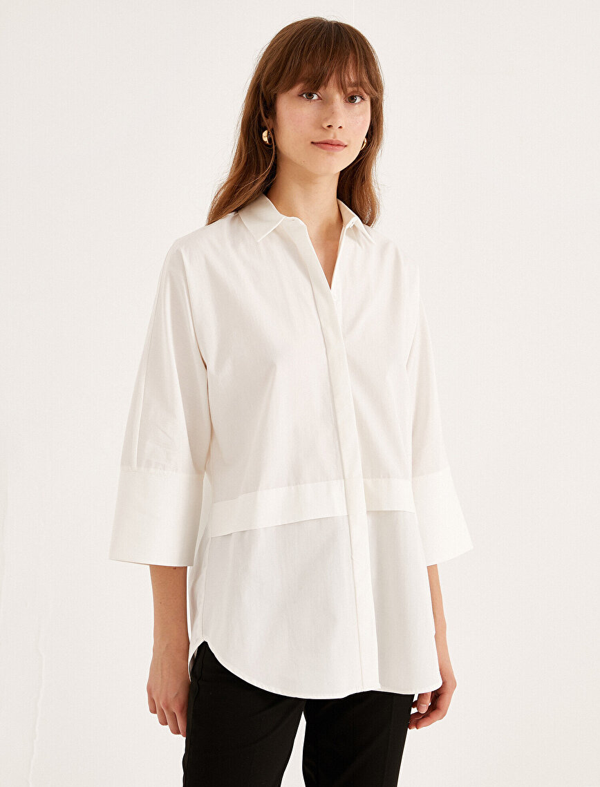 Pamuklu Yarım Kollu Gömlek