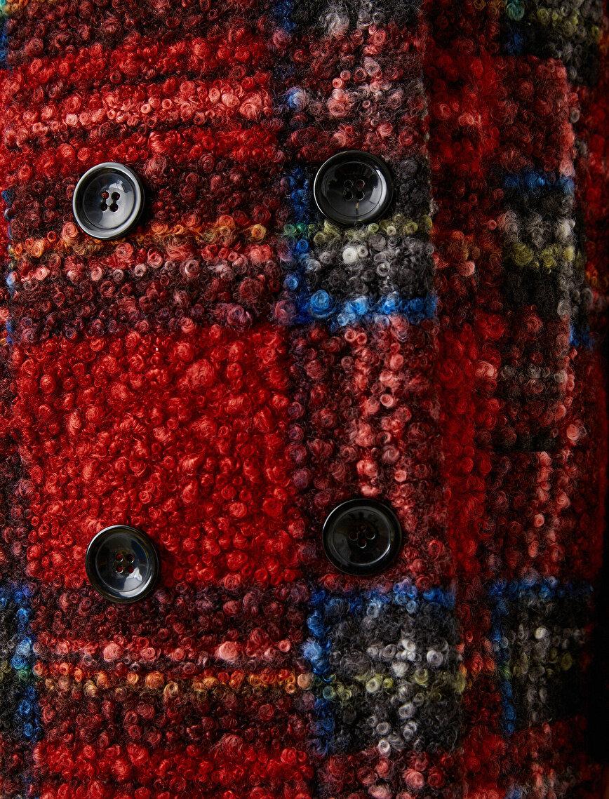 Plaid Detail Coat