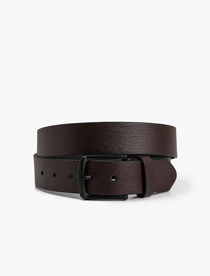 Faux Leather Buckle Belt