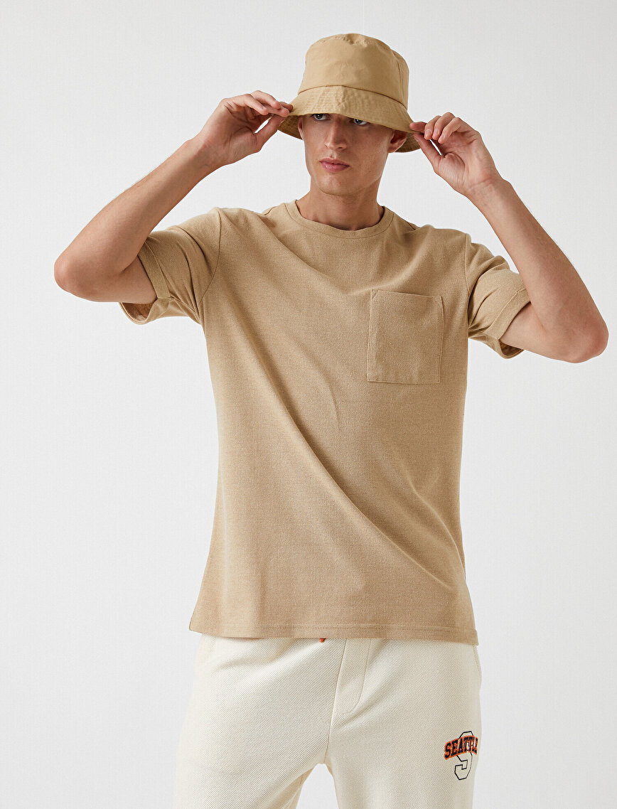 Oversize Cepli Basic Tişört