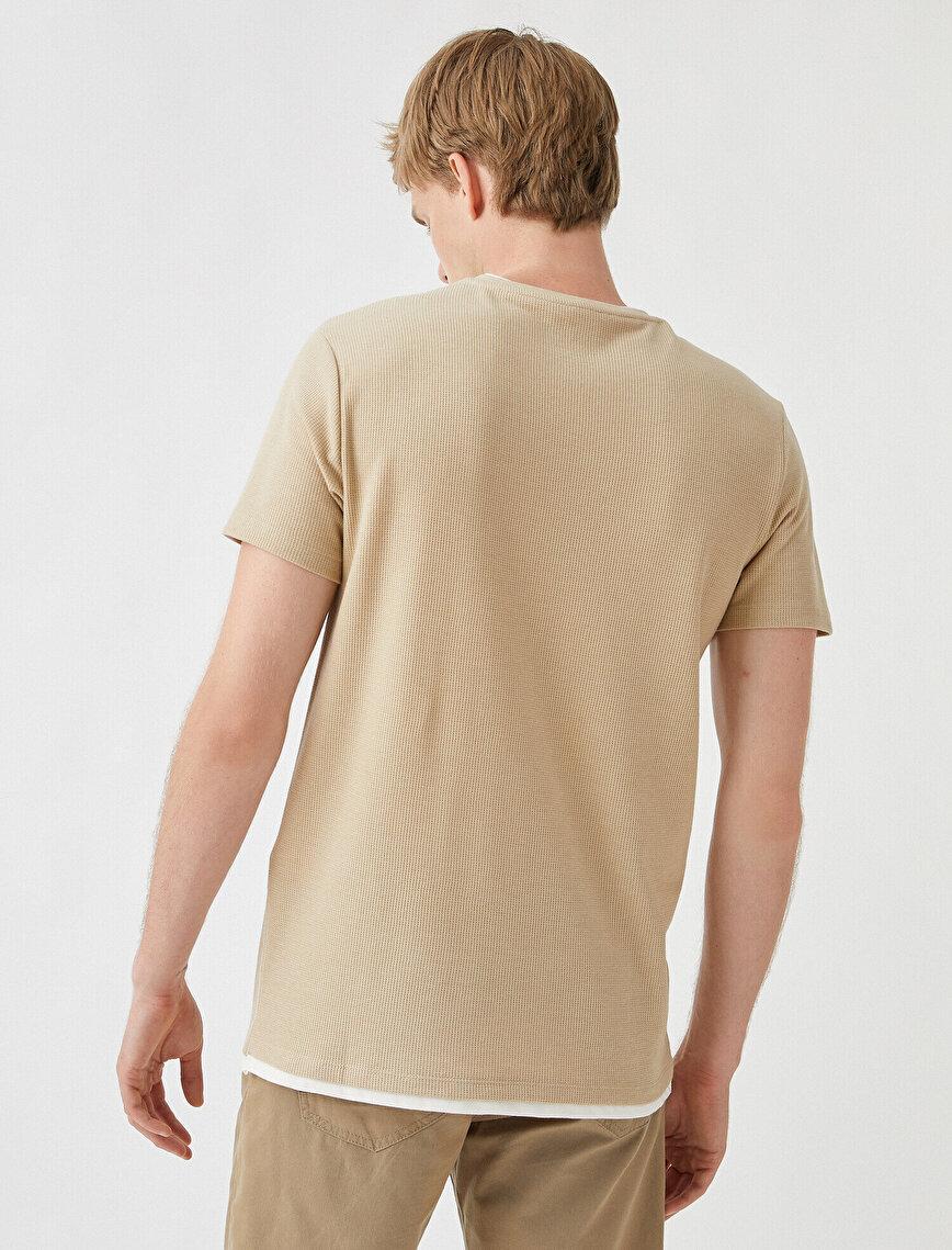 Basic Tişört Petek Dokulu