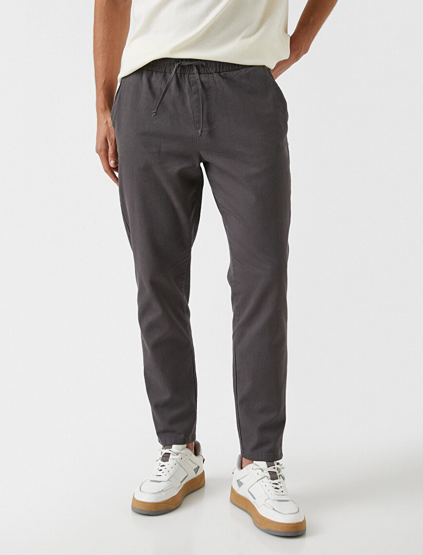 Tapered Fit Gabardine Trousers