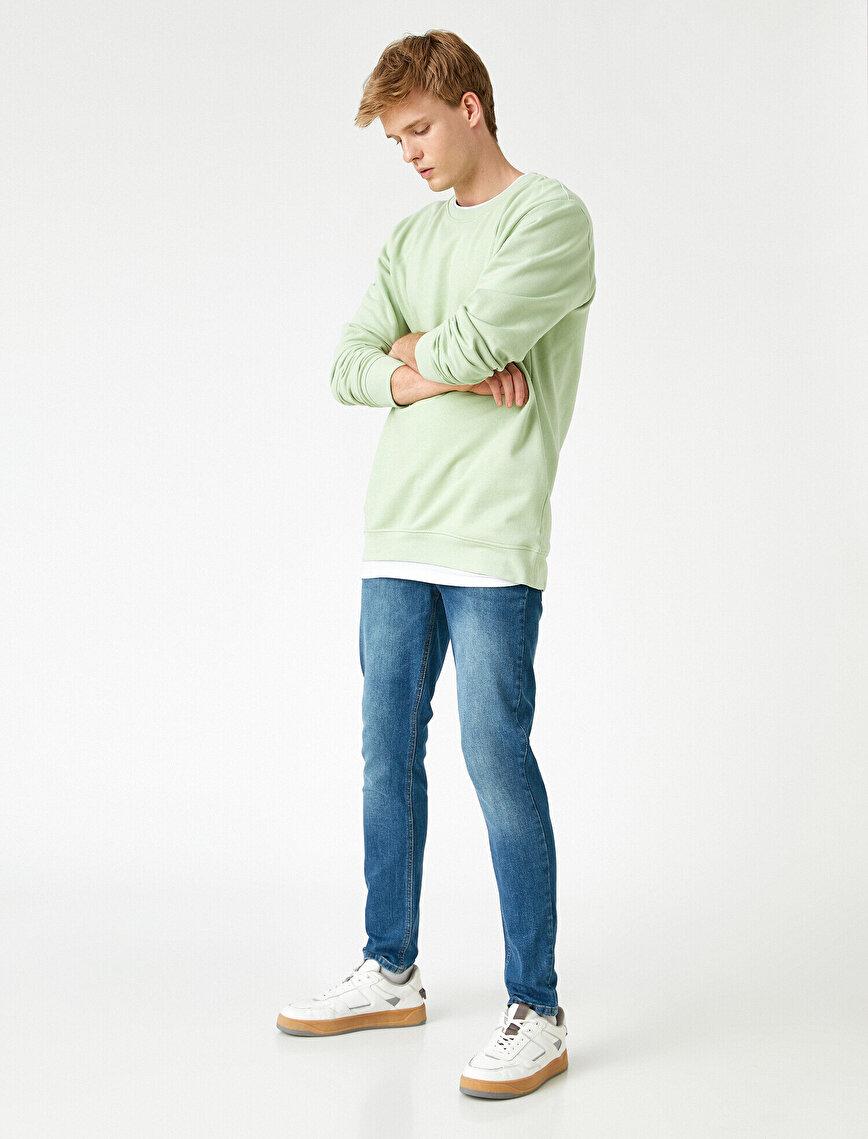 Skinny Fit Taşlamalı Kot Pantolon - Michael Jean