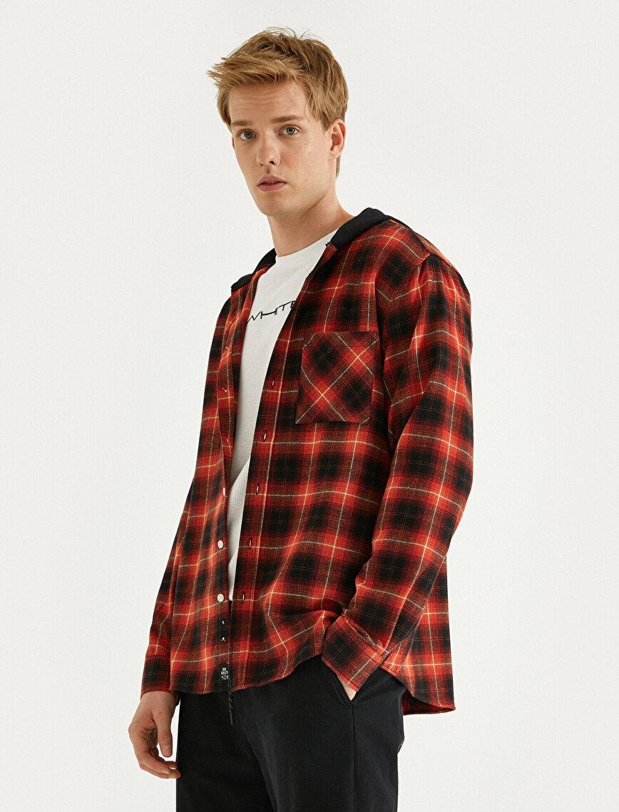 Hooded Check Shirt