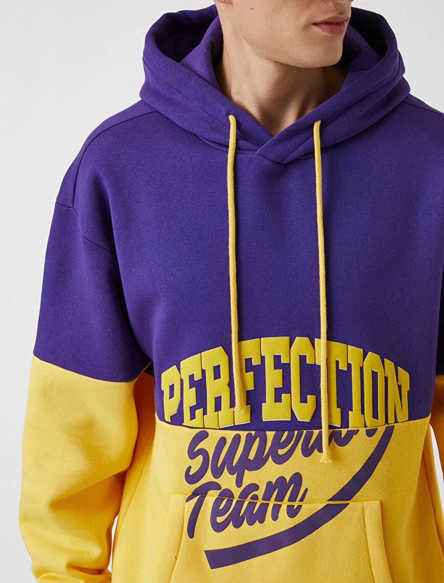 Oversize Yazı Baskılı Sweatshirt