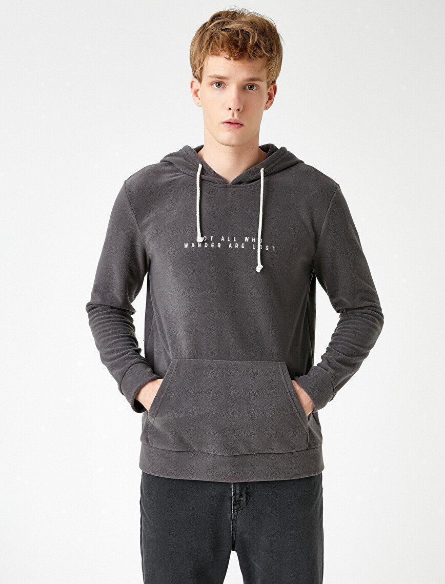 Kapşonlu Polar Sweatshirt